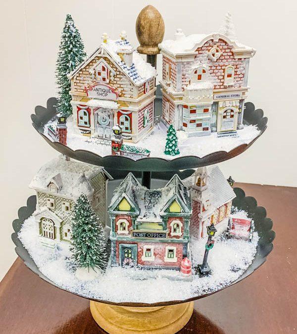 Dollar Tree Christmas Village remake