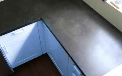 How to DIY Black Concrete Countertops